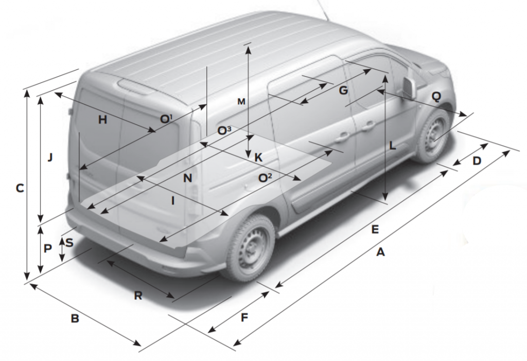 Ford Transit Connect dimensions